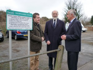 Labour Councillors Roger Truelove, Ghlin Whelan and Mike Haywood went out on Sunday o see how well the Shortlands Road car park, with its unsatisfactory surface, was being used.
