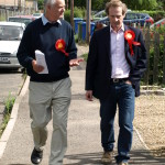 Roger Truelove, pictured with our Parliamentary Candidate Guy Nicholson