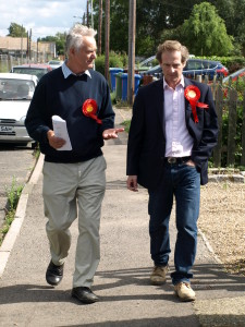 Roger Truelove, pictured with Guy Nicholson