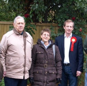 Guy Nicholson with Sheerness West Councillors Steve Worrall and Angela Harrison.