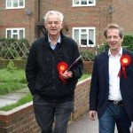 Roger Truelove with Labour's Parliamentary Candidate Guy Nicholson.