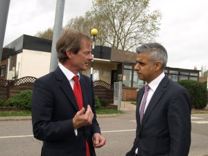 Labour's Parliamentary Candidate, Guy Nicholson, with Labour's Shadow Secretary of State, Sadiq Khan, at a recent visit to the Sheppey Cluster.